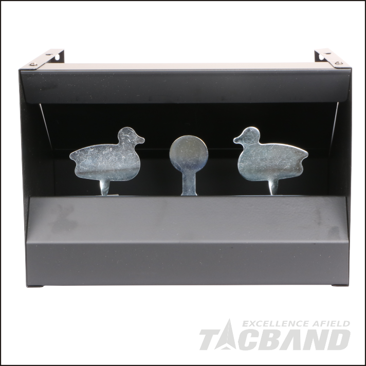 STB02D  Magnetic Knockdown Pellet Catcher Shooting Target - 2x Duck