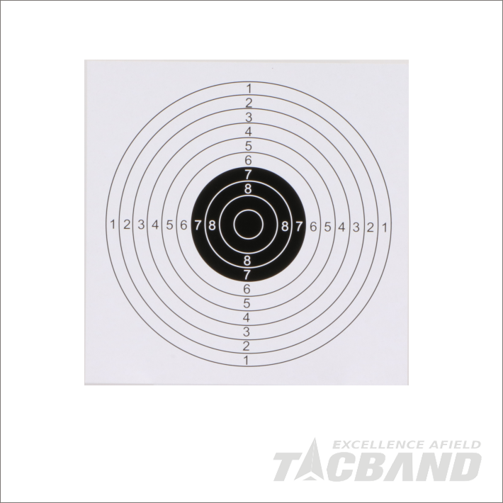 STP0117   Bullseye Paper Targets for Airsoft Shooting | 17x17cm