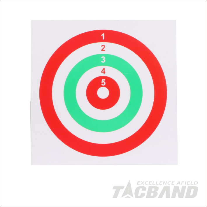 STP0114   Bullseye Paper Targets for Airsoft Shooting | 14x14cm