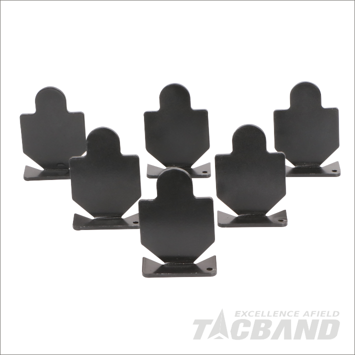 STC06U6  6 Pcs Human Contour Metal Shooting Target For 22 Air Rifle Slug Gun BB Gun Pellet Gun